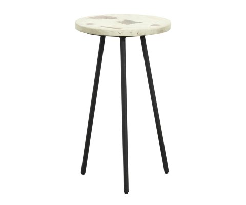 Table d'appoint terrazzo-TEMAL-BLANCHE