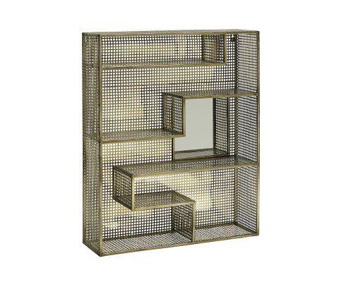 Étagère miroir métal grillagé BRENDA - Nordal