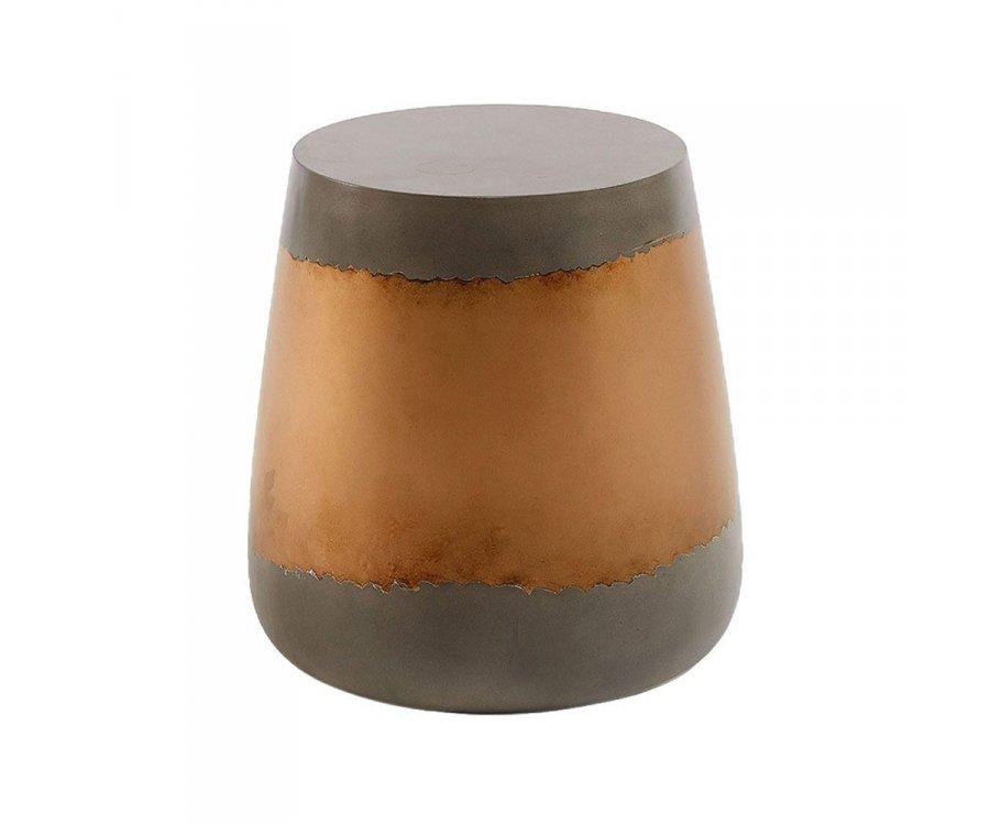 Petite table basse ciment finition cuivré TRUDE