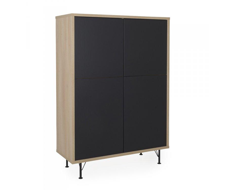 Cabinet haut 4 portes scandinave-QILA