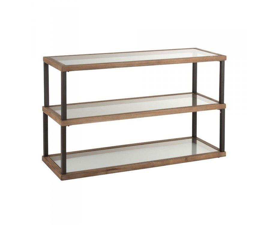 Console d'entrée 3 niveaux verre et bois CRISTEL - J-line