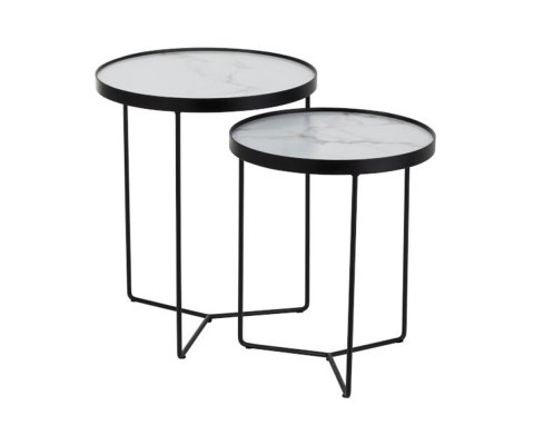 Lot de 2 tables gigognes rondes VALENTINO - J-line