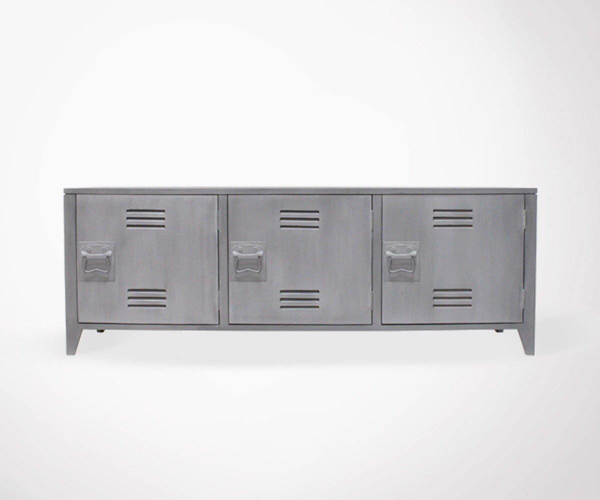 Mold College Locker Style Tv Unit Grey Meubles Et Design # Meuble Tv Discount Design