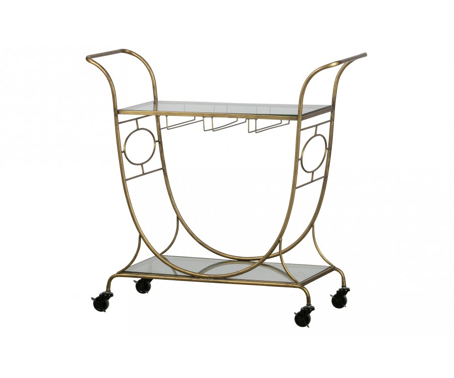 Table d'appoint style chariot vintage VICTOIRE