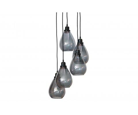 Suspension 5 ampoules en verre ISABELA
