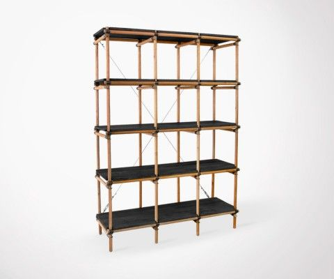 SINA Mahogany Wood Shelving Unit