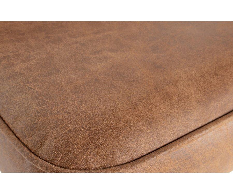 Fauteuil pivotant style rétro en cuir VOGUE
