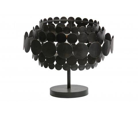 Lampe à poser moderne en métal noir VENISE