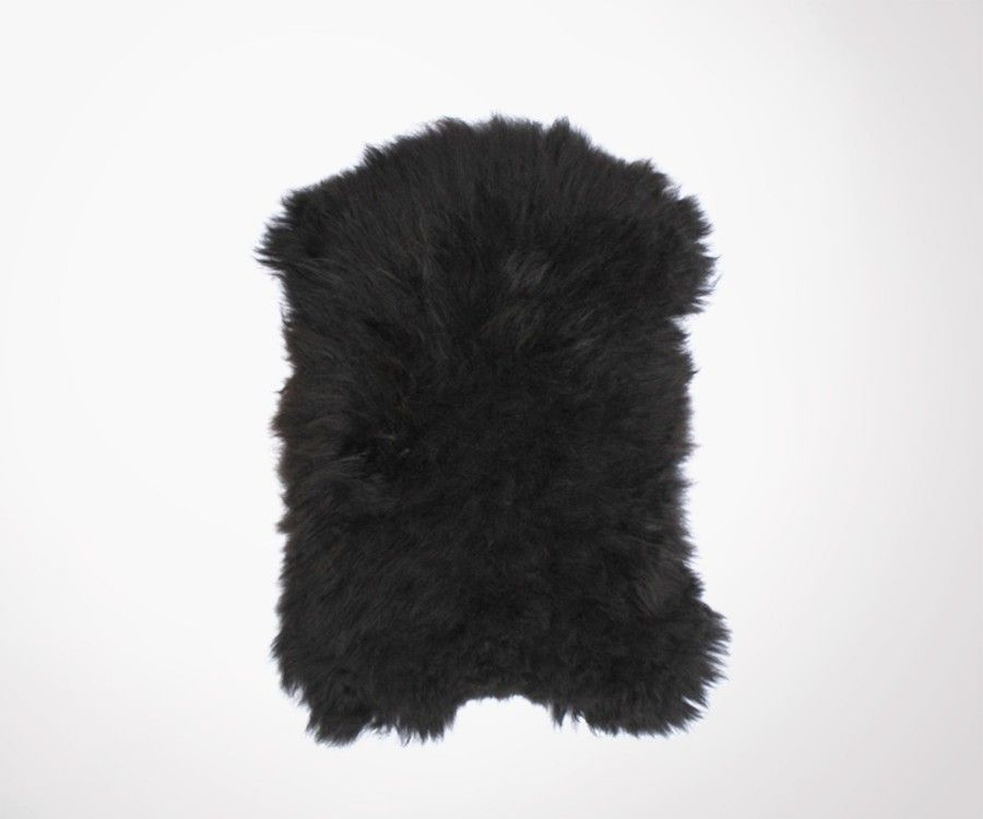 Peau de mouton véritable noir SHEEPA