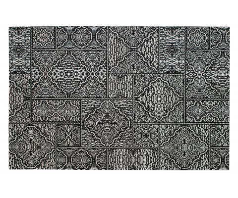 Tapis ethnique noir et blanc 155x230cm ZAKAR