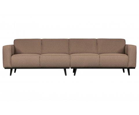 Grand canapé 280cm en tissu bouclé STATEMENT