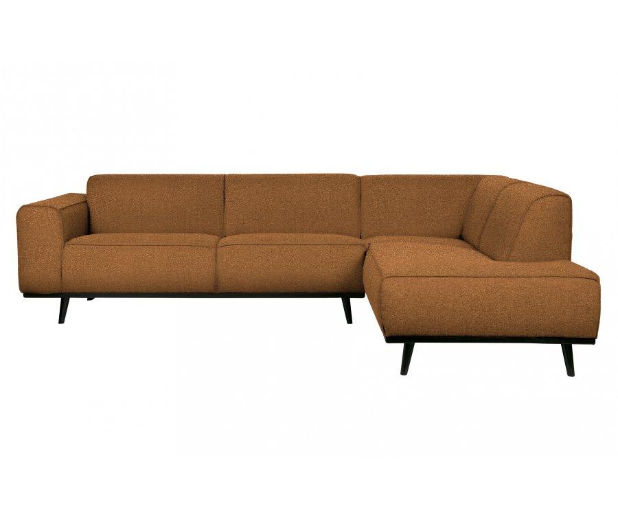 Canapé d'angle droit en tissu bouclé STATEMENT