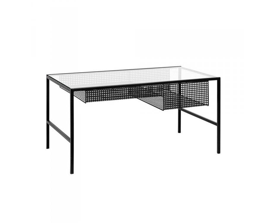 Table basse métal et verre-ZAO
