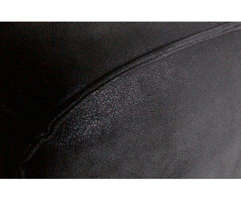Canapé noir 3 places en suédine STATEMENT