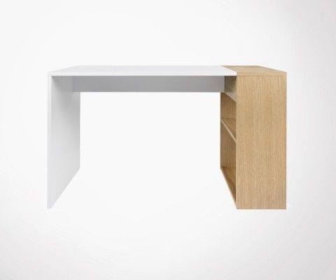 Bureau contemporain en bois 120cm HARBOUR