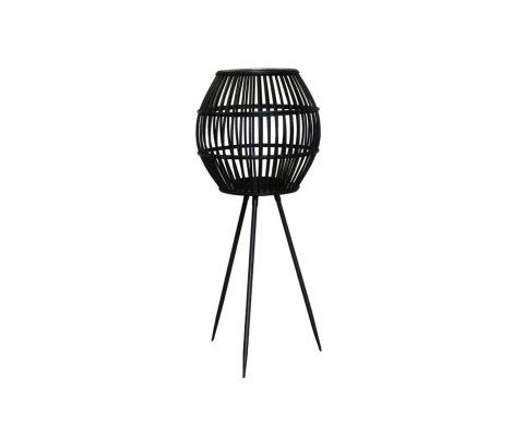 Petit lampadaire moderne en rotin noir DONNA