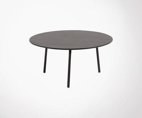 Table basse ronde 65cm polyciment peint BAHOS
