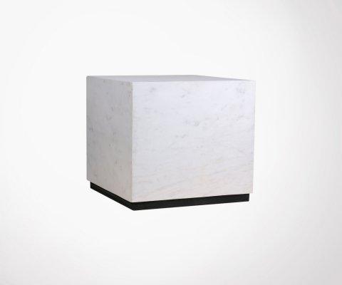 Table basse 35cm cubique marbre blanc STRUK - HK Living