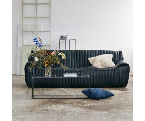 Canapé vintage en cuir véritable MARIUS