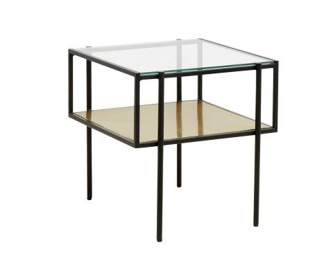 Table basse design en verre PAULETTE