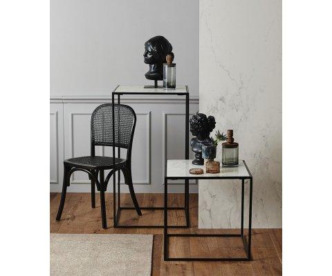 Table haute d'appoint 100cm en marbre FRIZZ