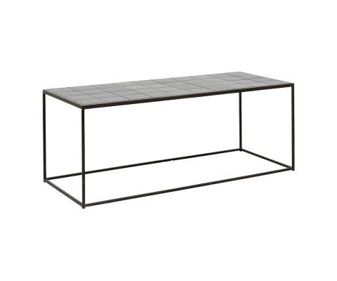 Table basse moderne en céramique noire BAMBA
