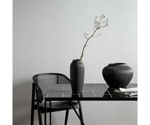 Set de 2 chaises design avec accoudoirs en cannage MEDINA