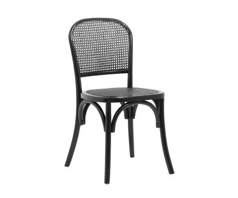 Lot de 2 chaises style bistrot en cannage MEDINA