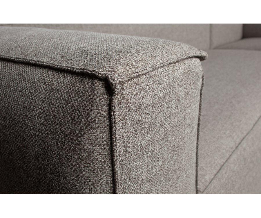 Canapé d'angle gauche en tissu ROYES