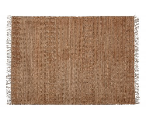 Tapis naturel en jute tressé style bohème MOLA