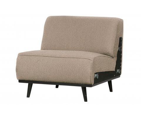 Canapé à assembler section fauteuil en tissu STATEMENT