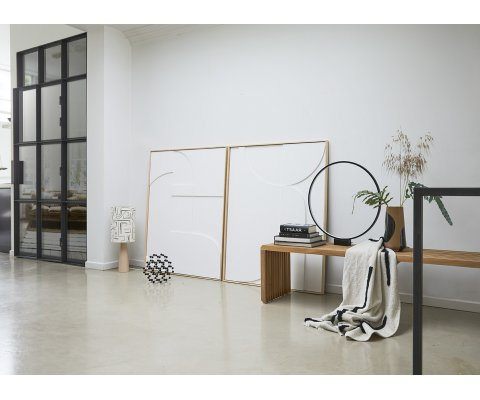 Tableau moderne contemporain 100x123cm blanc FRAME