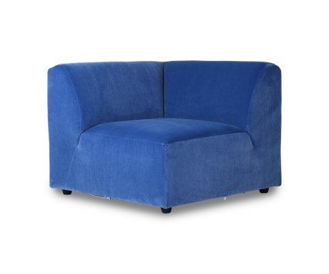 Canapé modulable section angle gauche en velours BLOM