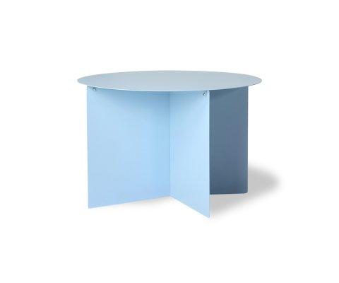 Table basse ronde métal bleu CALA