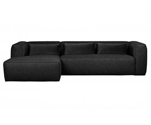 Canapé d'angle gauche en tissu BEAN