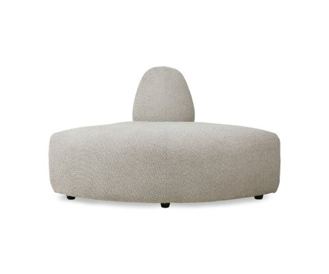 Canapé modulable section rond tissu beige JAKO