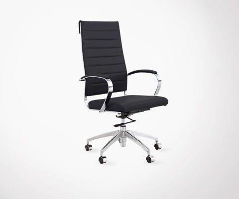 Chaise de bureau design scandinave haut dossier CASEY