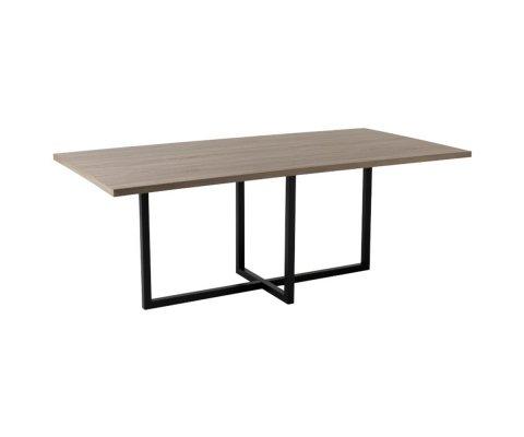 Table à manger moderne en bois et métal NIOMOUNE