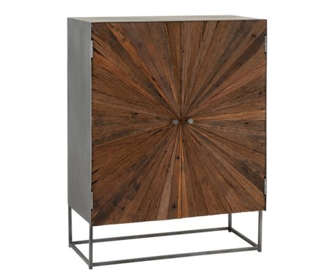 Grand buffet design en bois et métal NIKINE