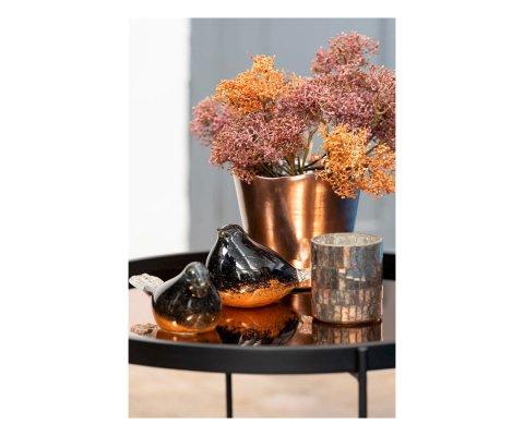Petite table basse ronde métal rose GUEYE