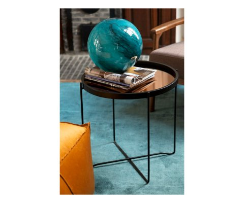 Table d'appoint minimaliste en bois et métal GUEYE