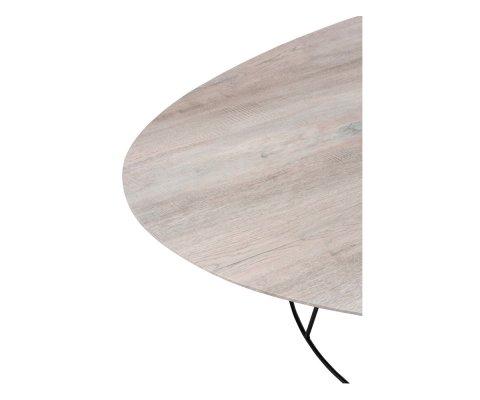 Table basse ovale en bois et métal KADIA