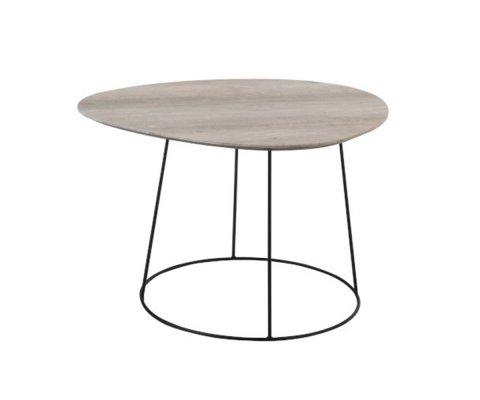 Table d'appoint en bois et métal ovale KADIA