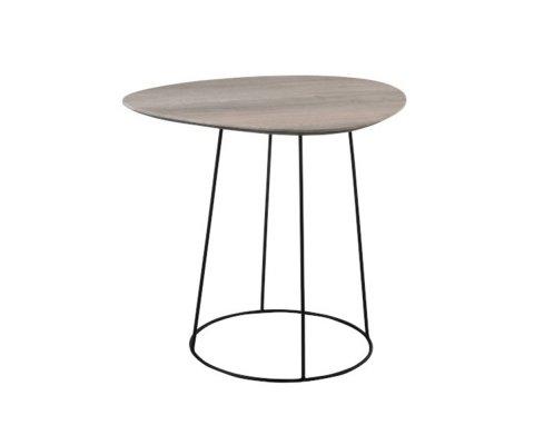 Petite table d'appoint en bois MDF clair KADIA