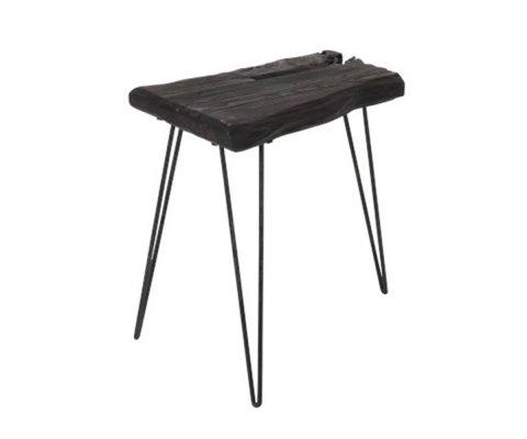 Lot de 2 tables de chevet en bois d'épicéa foncé NIALO