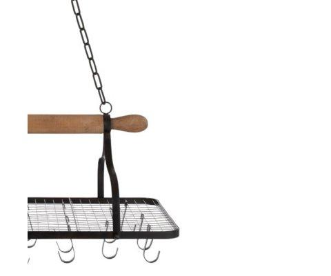 Etagère de cuisine suspendue avec crochets MONSSOR