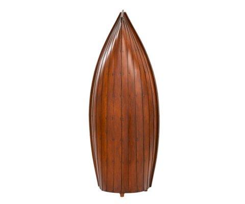 Bibliothèque design en bois forme bateau SAVANA