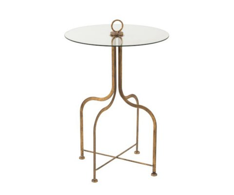 Table d'appoint ronde style art déco DIANG