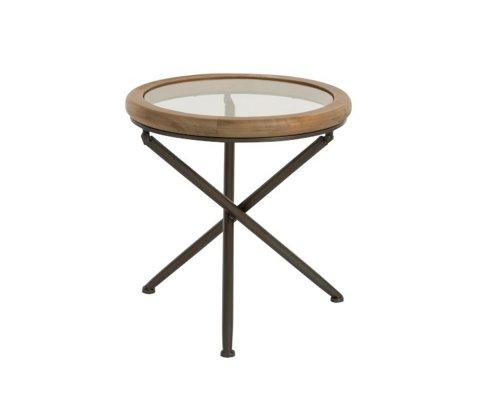 Table d'appoint bohème en bois et verre MARSU