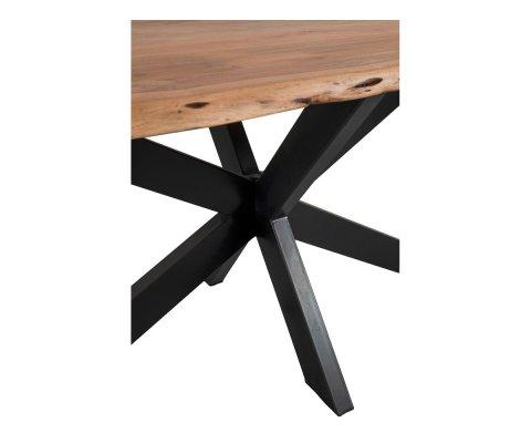 Table à manger 180x100cm plateau bois irrégulier BAY